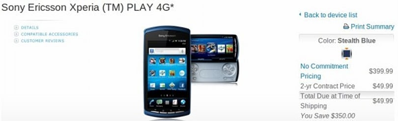 Game on: Sony Ericsson Xperia Play 4G ready at AT&T for $50