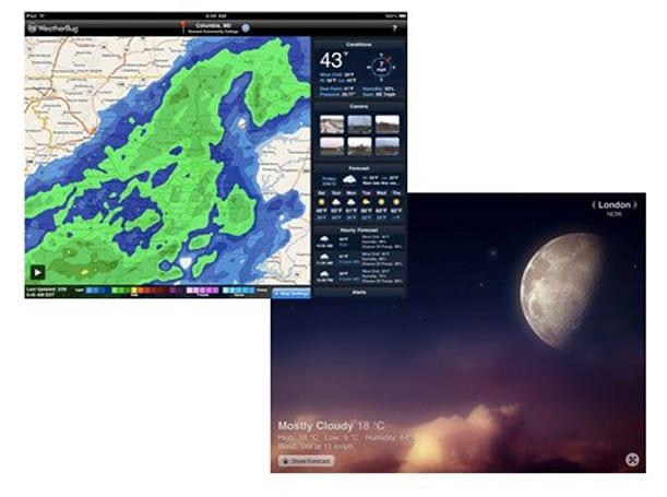 A tale of two iPad weather apps