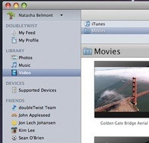 DVD Jon's Doubletwist sends and shares your media