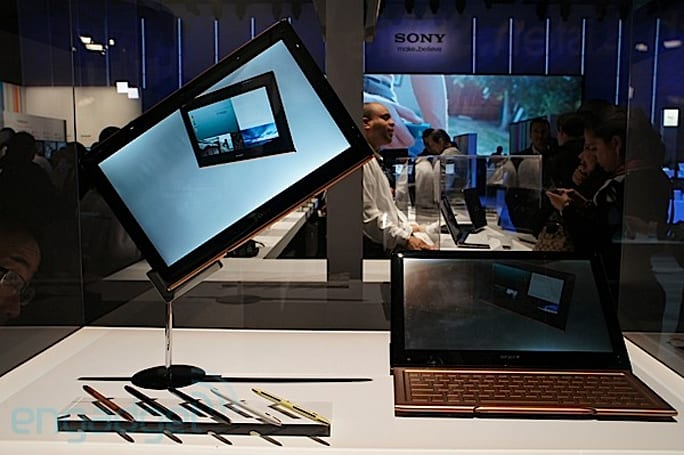 Sony Vaio Hybrid and Slate tablet concepts showcase new form factors, flexible materials (video)