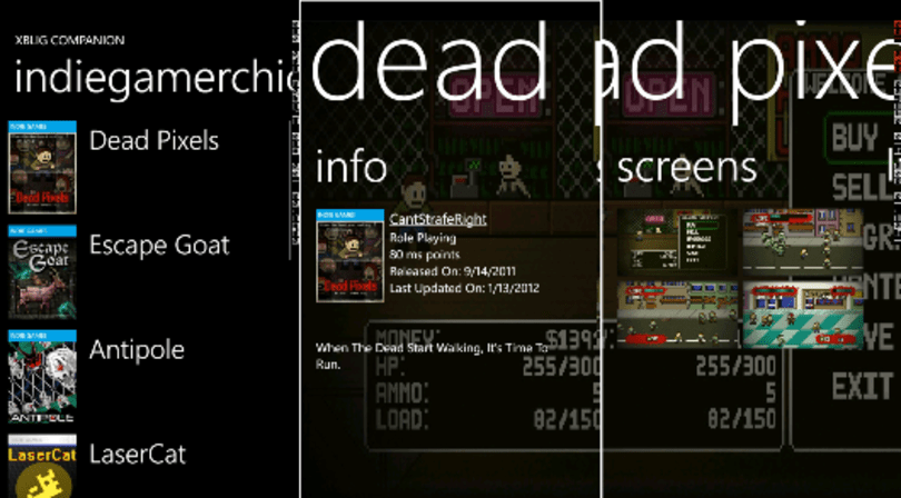 XBLIG Companion app available now for Windows Phone