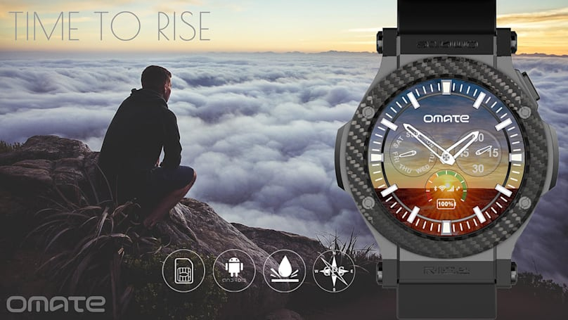 Omate Rise is a circular Android 3G smartwatch for just $200