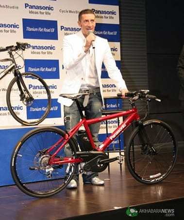 Panasonic's Titanium Flat Road EB electric bicycle is almost cheating