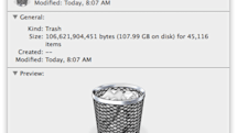 How to tell how much space your trash is using in OS X