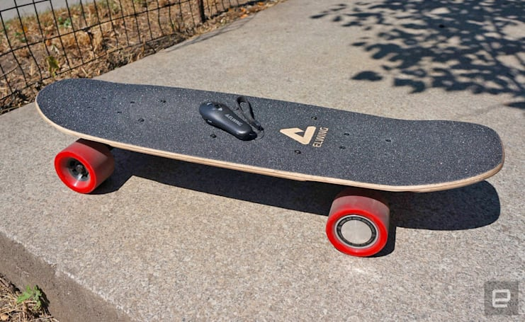 Elwing adds electric power to a standard-size skateboard