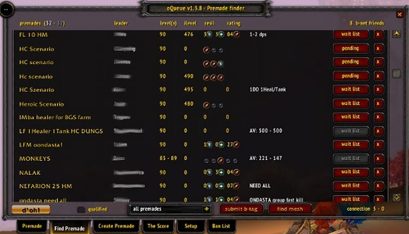 How to PuG a heroic scenario with oQueue