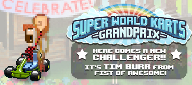 Fist of Awesome's lumberjack joining indie racer Super World Karts GP