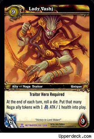 Upper Deck introduces Traitor cards for the WoW TCG