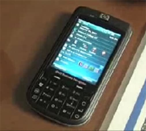 HP's iPAQ 610 gets demonstrated on video