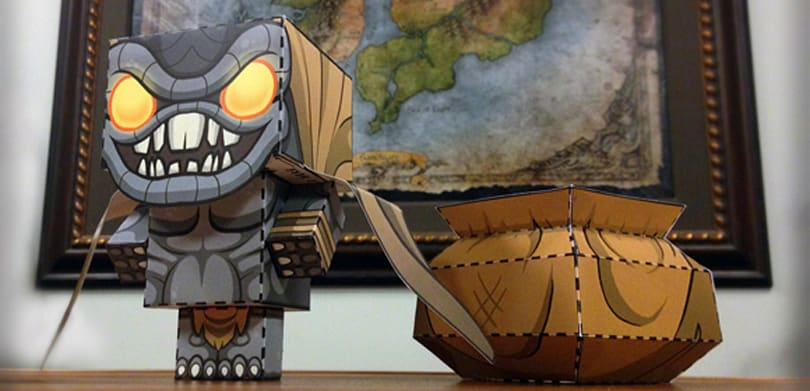 Create your own papercraft Treasure Goblin from Diablo III
