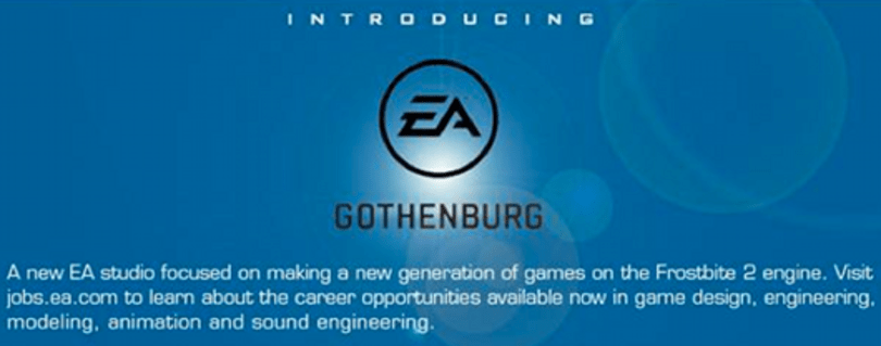 EA opens 'EA Gothenburg' studio focused on Frostbite 2 projects