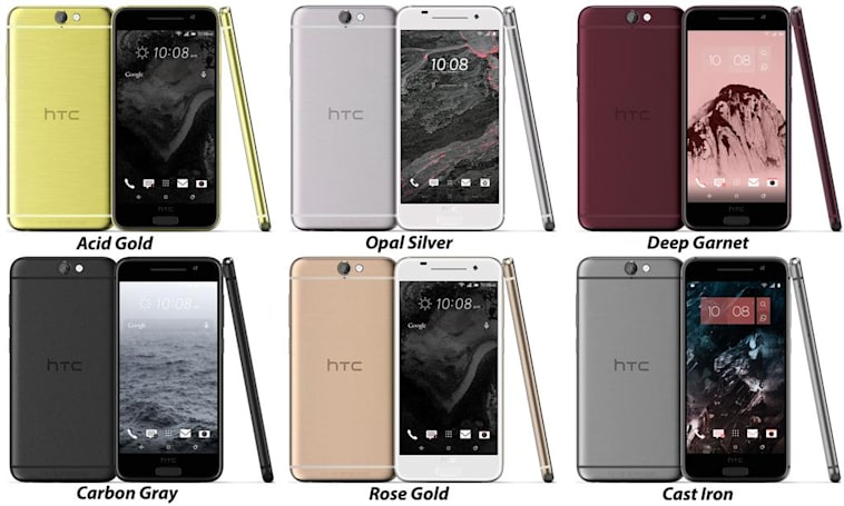 HTC 'Aero' leak shows iPhone-like colors, mid-range power