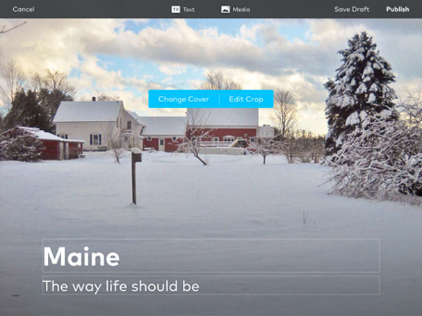 Storehouse allows you to create stunning visual stories
