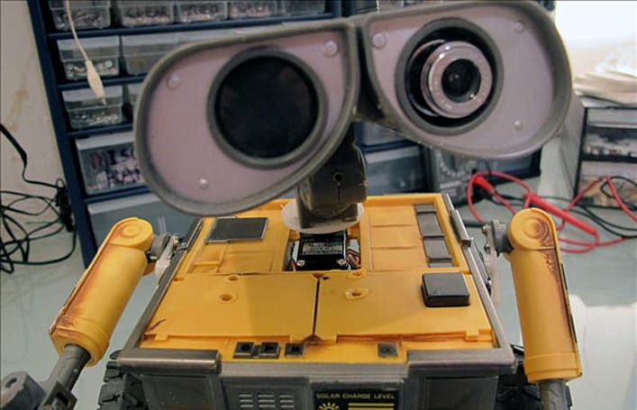 Wall-E meets his Canadian DJ maker, turns into a real robot toy (video)