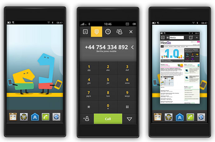 MeeGo for handsets makes its first appearance