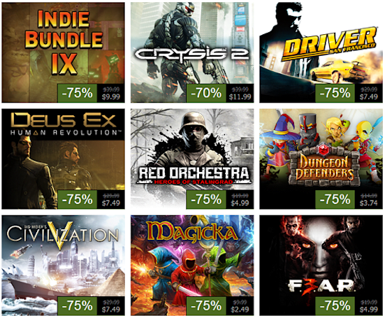 Steam Summer Sale, Day 9: Dungeon Defenders, Crysis 2, Civ 5 and more