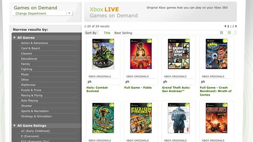 'Games on Demand' section arrives on Xbox.com