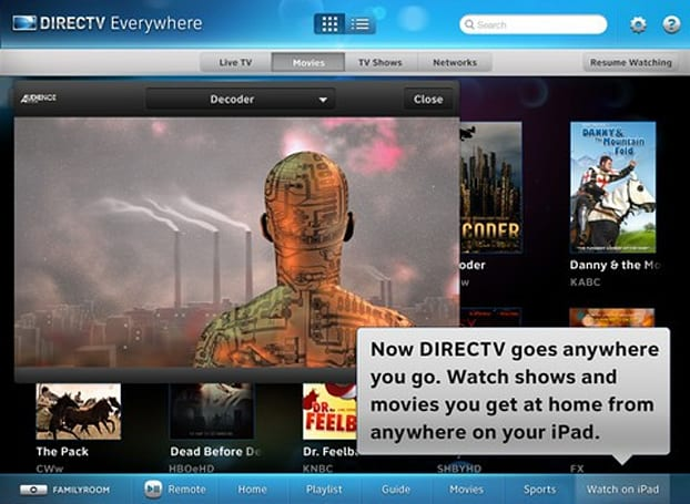 DirecTV iPad app adds (some) TV and movie streaming 'Everywhere' (Update: beta)