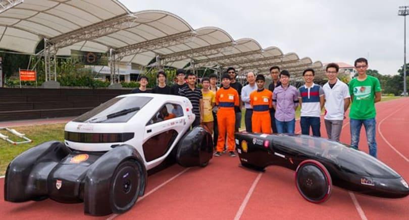 Singapore students 'print' solar-powered city car