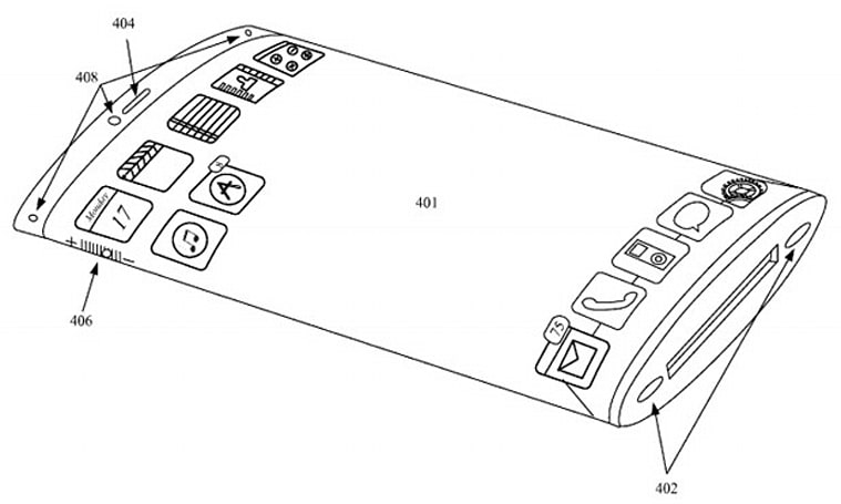 Apple patent filing describes phone concept with wrap-around AMOLED display