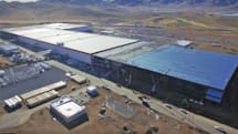 Drone footage shows Tesla's Gigafactory taking shape