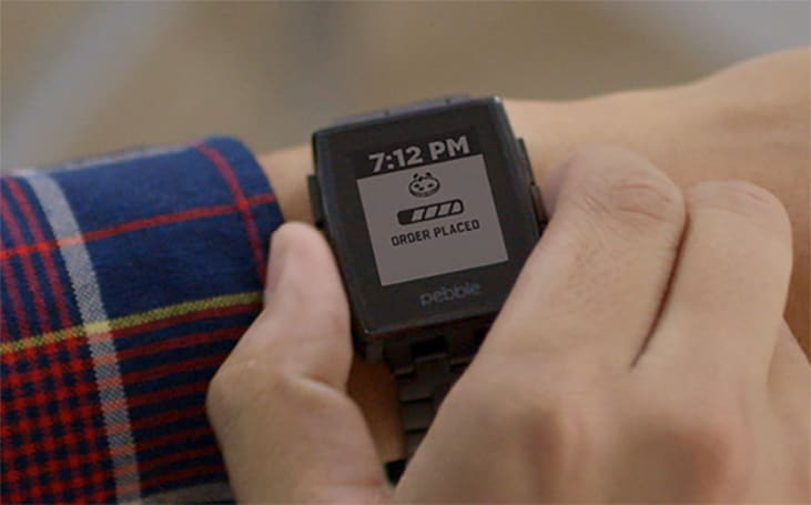 Track your Domino's order via a Pebble smartwatch