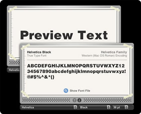 Widget Watch: Type Cast font preview and info