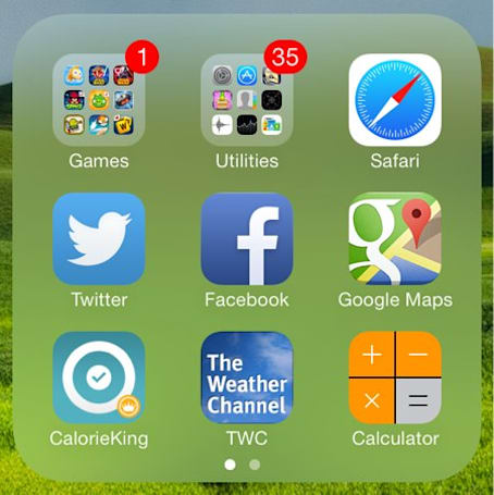 How to create nested folders in iOS 7.1