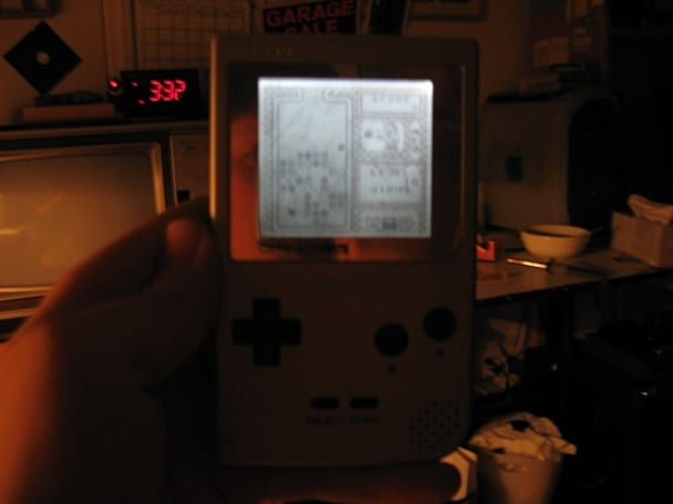 Game Boy Pocket fitted with backlit screen, one man's life now complete