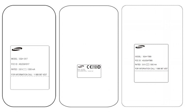Samsung Galaxy Note II variants for AT&T, T-Mobile, Verizon possibly caught at the FCC