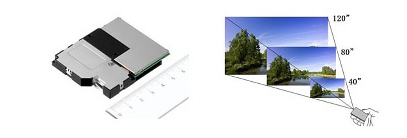 Sony laser pico projector module beams out focus-free HD images