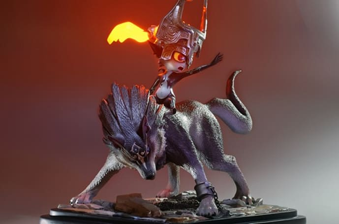 First 4 Figures reveals Wolf Link and Midna statue