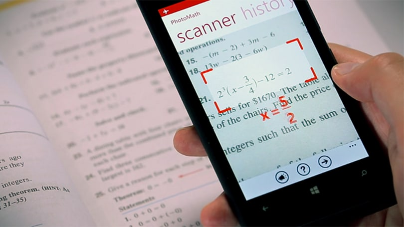PhotoMath uses your phone's camera to solve equations