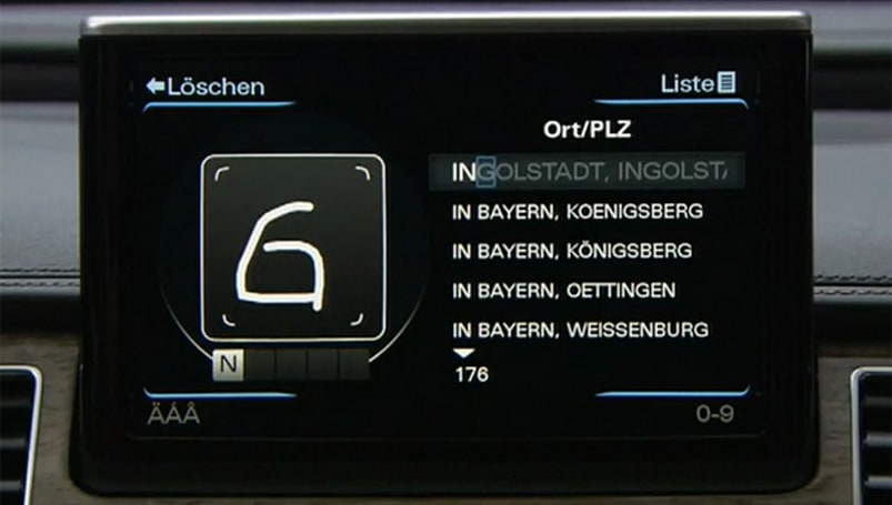 Audi A8 MMI adds handwriting recognition to list of 2011 features