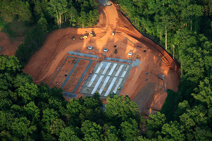 New construction at Apple's North Carolina data center poses for aerial photographs