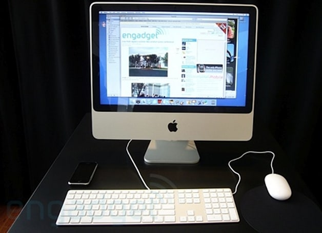 Engadget gets their hands on the new iMac/keyboard