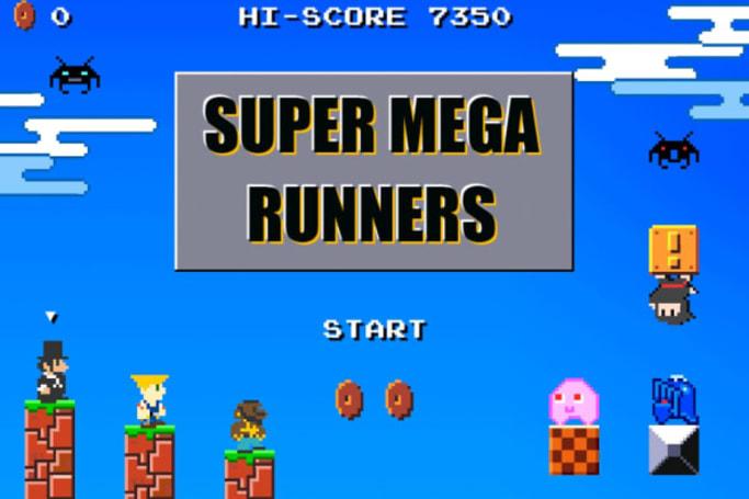 Super Mega Runners is a run through 8-bit nostalgia