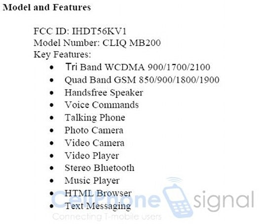 Motorola Morrisson with T-Mobile 3G and UMA hits the FCC