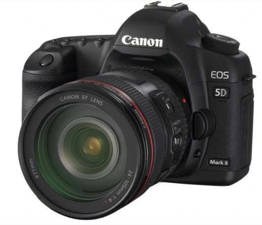21.1 megapixel Canon EOS 5D Mark II with Full-Frame, Full-HD video