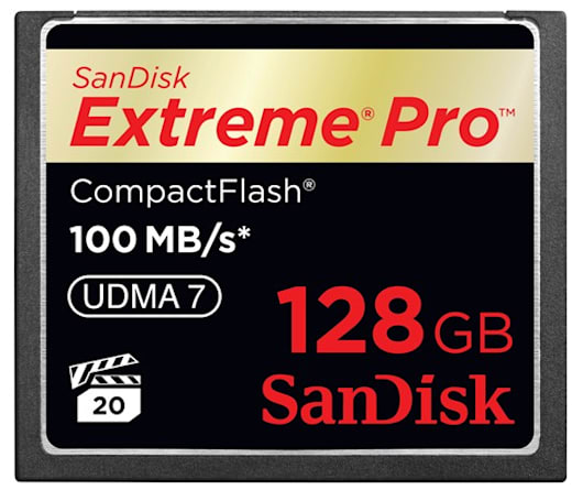 SanDisk reveals $1500 128GB Extreme Pro CF card, Ultra / Cruzer Edge USB drives