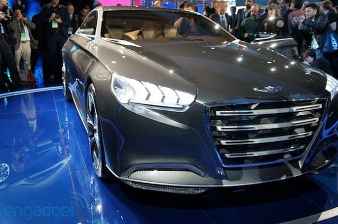 Hyundai unveils HCD-14 Genesis concept: suicide doors, gesture and eye controls