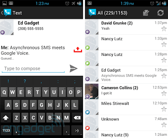 Google Voice update for Android brings design refresh and asynchronous SMS