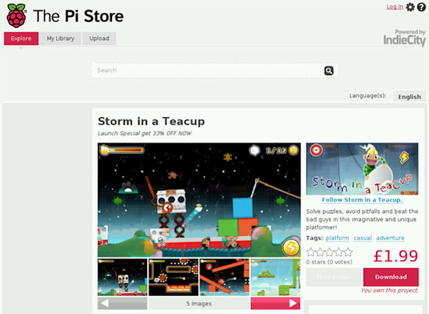 Raspberry Pi launches app store, allows developers to share free and paid-for apps and games