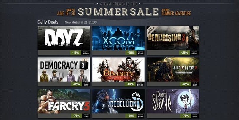 The Steam Summer Sale is now live, prepare your credit card
