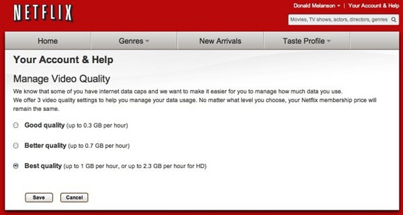 Netflix Canada announces new bandwidth management settings for capped users
