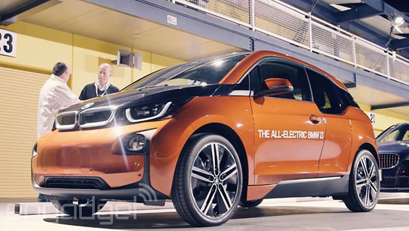 BMW's new street lights will charge your electric car