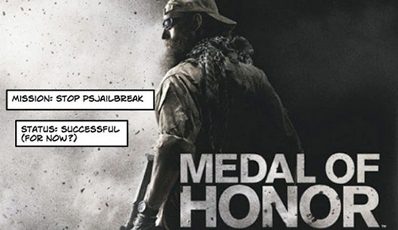 Medal of Honor insists on PS3 firmware 3.42, blocks PSJailbreak