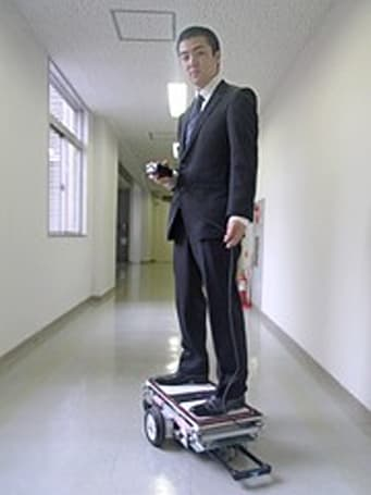 Shibaura Institute of Technology shows off 'robo-skateboard'