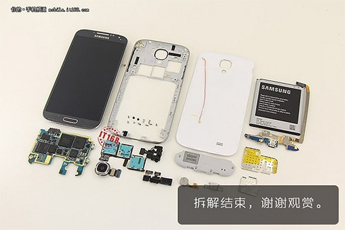 Samsung's Galaxy S 4 gets torn asunder, reveals its innards