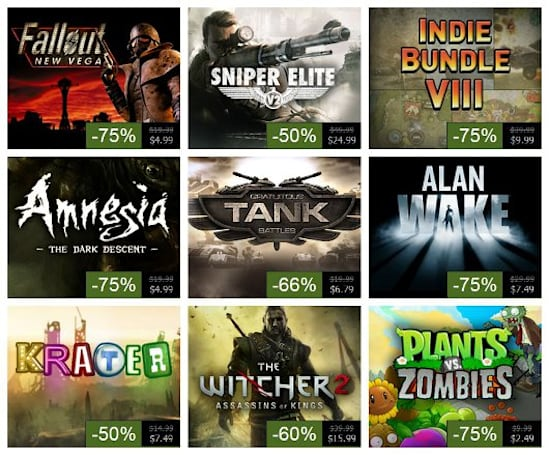 Steam Summer Sale, Day 8: Alan Wake, Witcher 2, Fallout: New Vegas